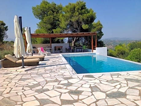Villa With 5 Bedrooms in Porto Heli, With Wonderful sea View, Private